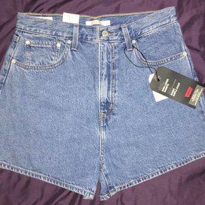 Levi's High Loose Denim Shorts 30